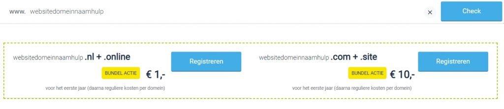 domeinregistratie bij yourhosting