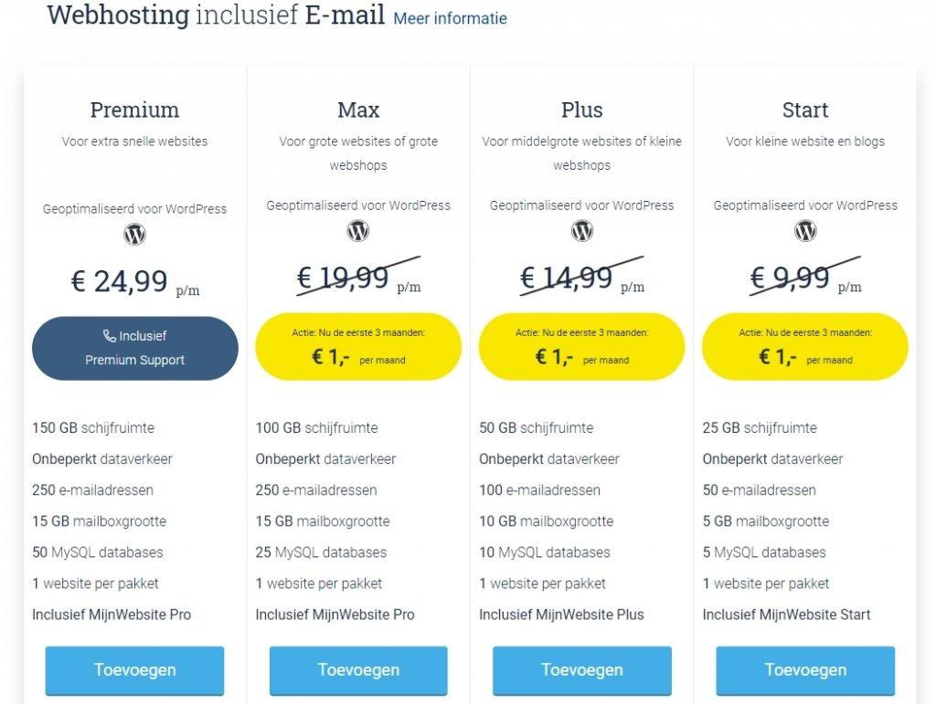 webhosting kiezen